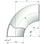 Отвод крутоизог. 133*6 ст.НЖ геометрия по ГОСТ 17375-01