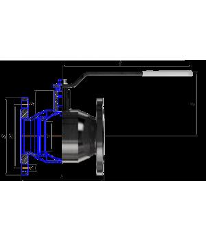 Кран шаровый ALSO КШФЗ Ду 80 Ру 1,6 МПа ст.20