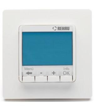 REHAU SOLELEC Терморегулятор Optima 10A с цифровым дисплеем, программируемый, с датчиком температуры