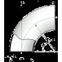 Отвод крутоизог. 133*6 ст.12Х18Н10Т геометрия по ГОСТ 17375-01